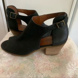 Lucky Brand Oona Peep Toe Wedge Booties - 9.5